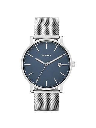 Skagen SKW6327 Men's Jorn Bracelet Strap Watch, Silver/Black