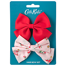 Buy Cath Kidston Children's Ballerina Rose Bow Hair Clips, Pack of 2, Pink Online at johnlewis.com
