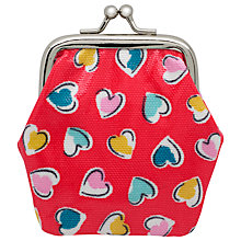 Buy Cath Kidston Children's Mini Hearts Clasp Purse, Red Online at johnlewis.com