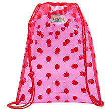 Buy Cath Kidston Children's PVC Spot Drawstring Bag, Pink Online at johnlewis.com