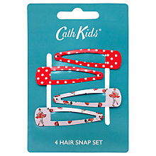 Buy Cath Kidston Children's Ballerina Hair Bows, Pack of 4, Red Online at johnlewis.com
