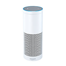 Buy Amazon Echo Smart Speaker with Alexa Voice Recognition & Control, White + Logitech Smart Home Harmony Hub Online at johnlewis.com
