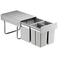 Buy Wesco Triple Pull-Out Kitchen Bin, 40L Online at johnlewis.com