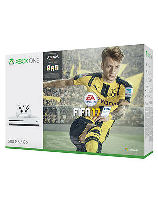 Buy Microsoft Xbox One S Console, 500GB, with FIFA 17 Game Download Online at johnlewis.com