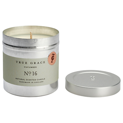 True Grace Walled Garden Cucumber Scented Candle Tin