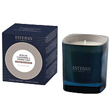 Buy Esteban Cashmere Wood & Ambergris Candle Jar Online at johnlewis.com