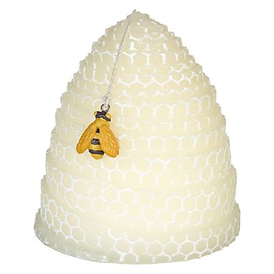 John Lewis Relaxed Country Beehive Shaped Candle, Ivory