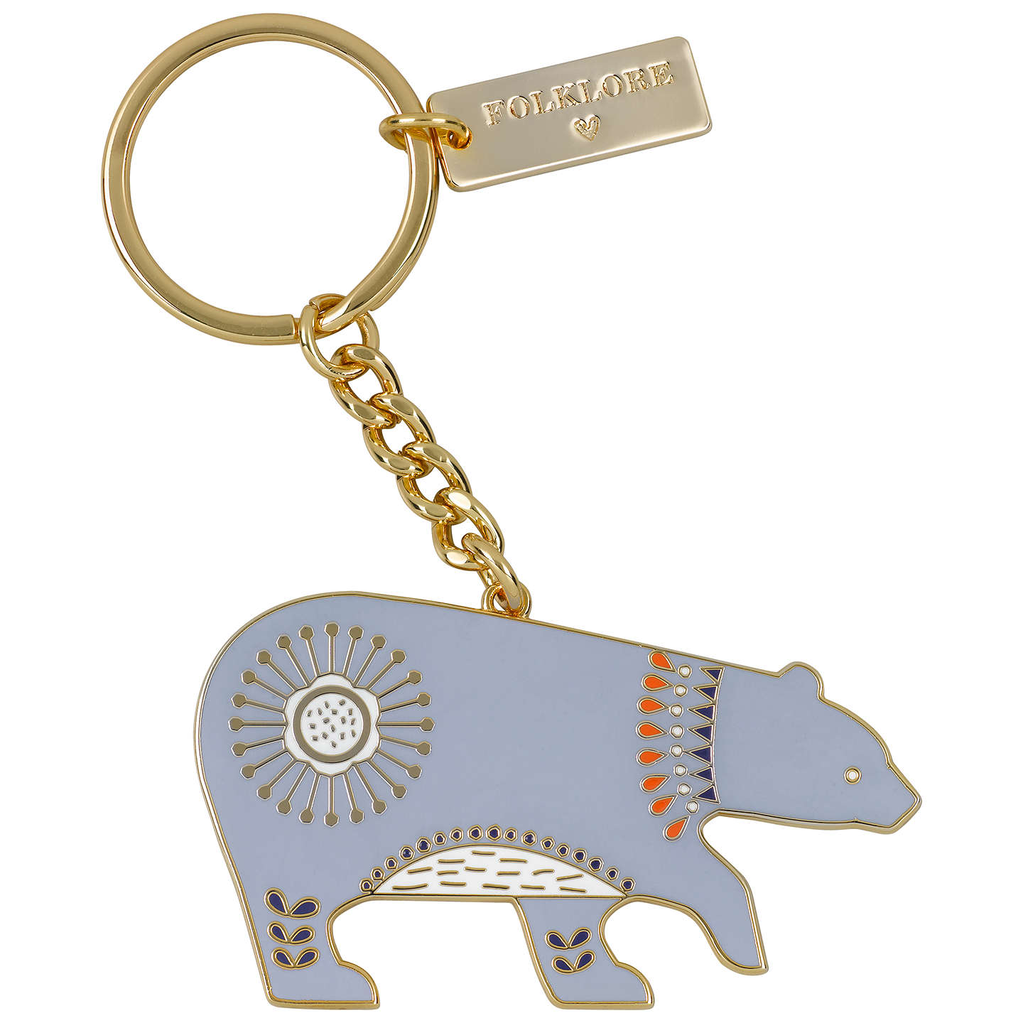BuyFolklore Bear Keyring Online at johnlewis.com