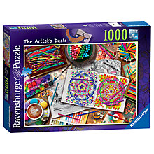 Buy Ravensburger The Artist's Desk Jigsaw Puzzle, 1000 pieces Online at johnlewis.com