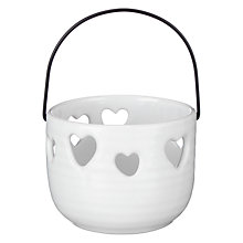 Buy John Lewis Hanging Heart Tealight Holder Online at johnlewis.com
