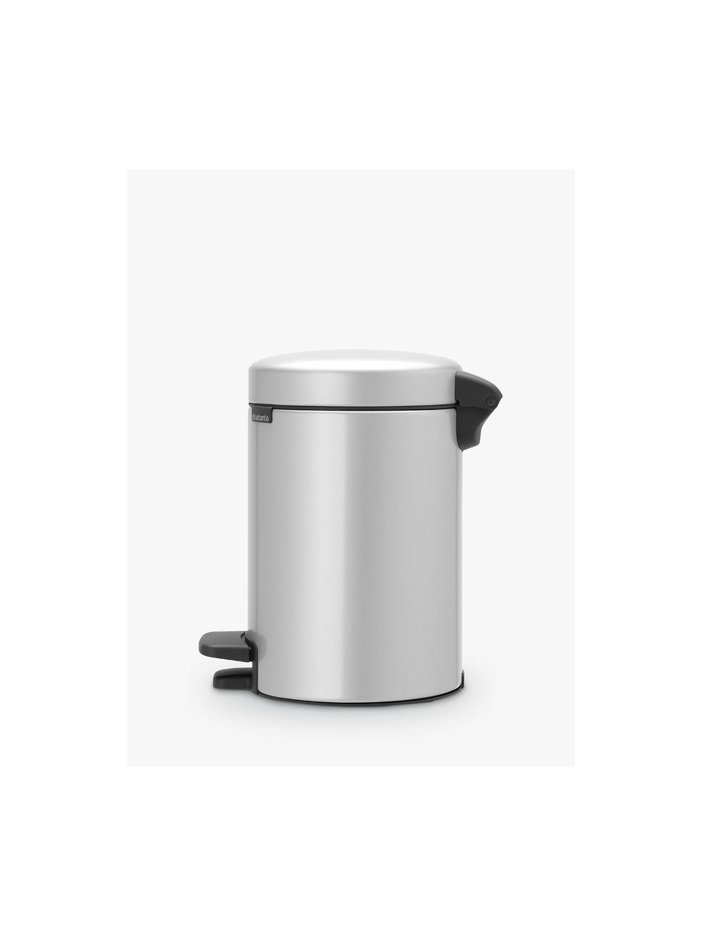 BuyBrabantia NewIcon Pedal Bin, Metallic Grey, 3L Online at johnlewis.com