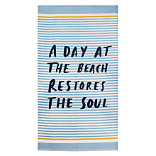 Buy John Lewis Coastal Soul Beach Towel Online at johnlewis.com