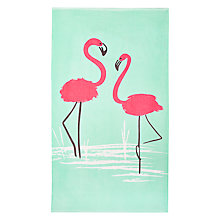 Buy John Lewis Giant Flamingo Beach Towel Online at johnlewis.com