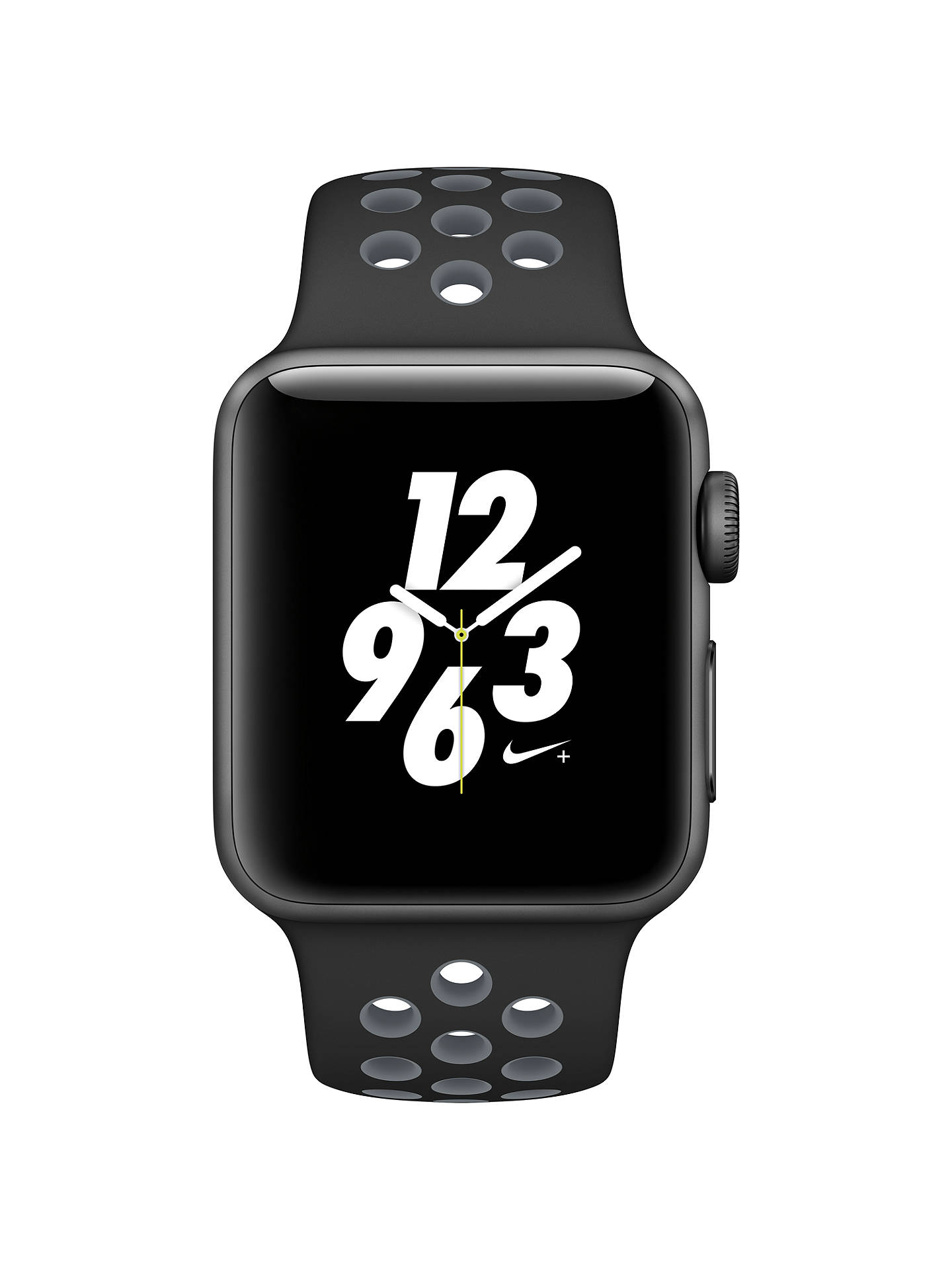 Buy Apple Watch Nike+, 38mm Space Grey Aluminium Case with Nike Sport Band, Black / Cool Grey Online at johnlewis.com