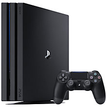 Buy Sony PlayStation 4 Pro Console, 1TB, Black Online at johnlewis.com