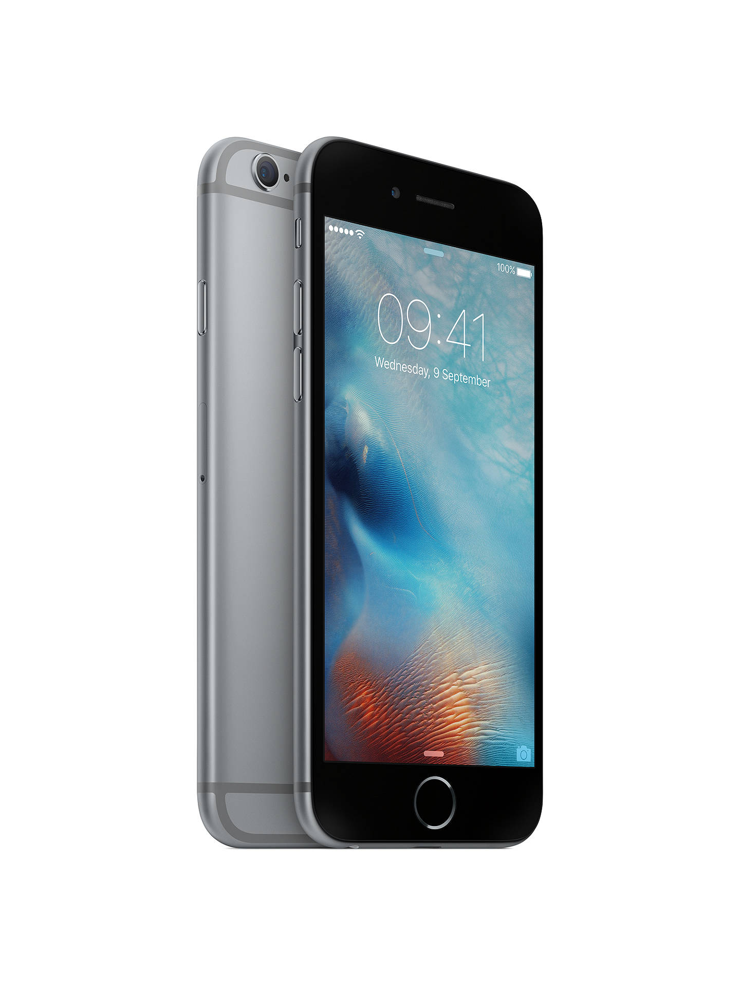 "Buy Apple iPhone 6s, iOS, 4.7"", 4G LTE, SIM Free, 32GB, Space Grey Online at johnlewis.com"