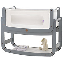 Buy Snuzpod Dove Grey Bedside Crib and Waterproof Mattress Protector bundle Online at johnlewis.com