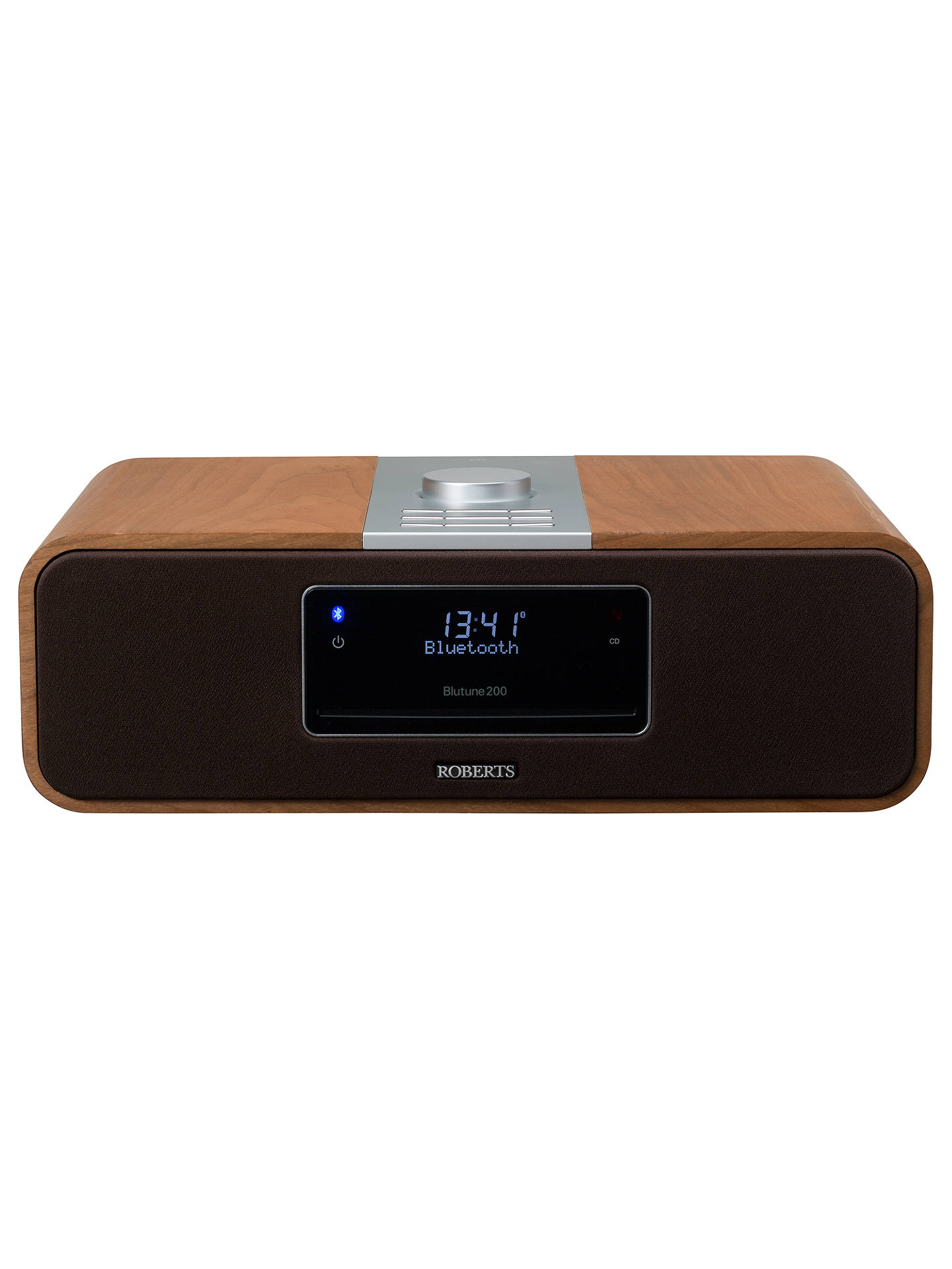 BuyROBERTS Blutune 200 DAB/FM/CD Bluetooth Radio, Cherry Wood Online at johnlewis.com