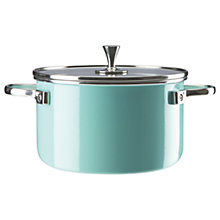 Buy kate spade new york Metal Casserole, Turquoise Online at johnlewis.com