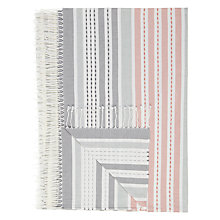 Buy John Lewis Cove Stripe Cotton Throw Online at johnlewis.com