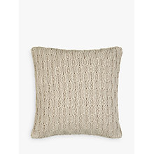 Buy John Lewis Croft Collection Cotton Chain Knit Cushion Online at johnlewis.com
