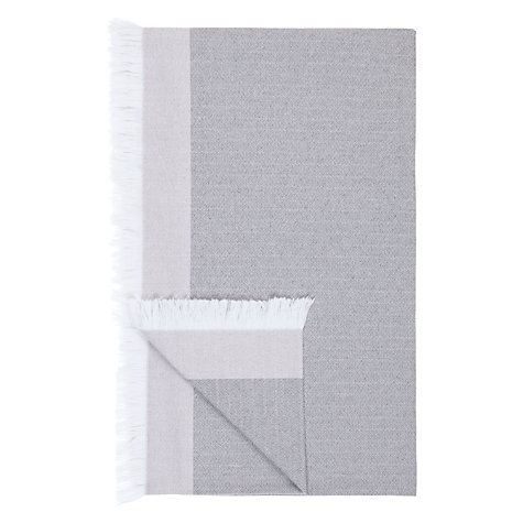 Buy John Lewis Croft Collection Cotton Herringbone Throw Online at johnlewis.com