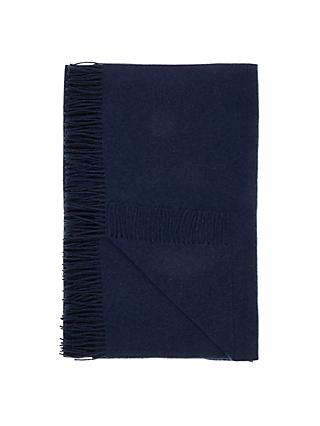 John Lewis & Partners Plain Wool Throw