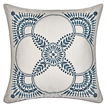 Buy Genevieve Bennett for John Lewis Deco Flower Embroidered Cushion Online at johnlewis.com