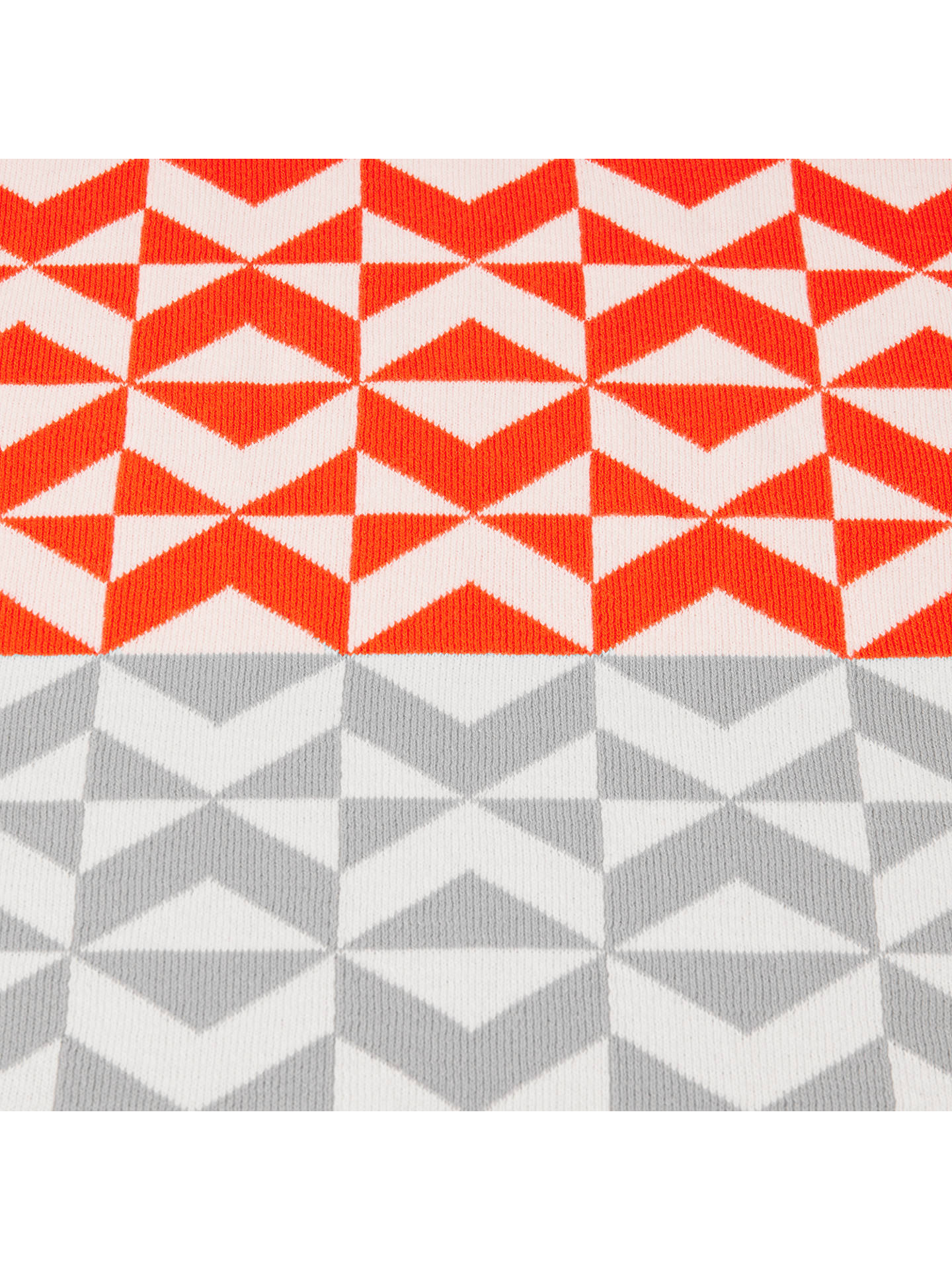 BuyHouse by John Lewis Chevron Knitted Throw Online at johnlewis.com