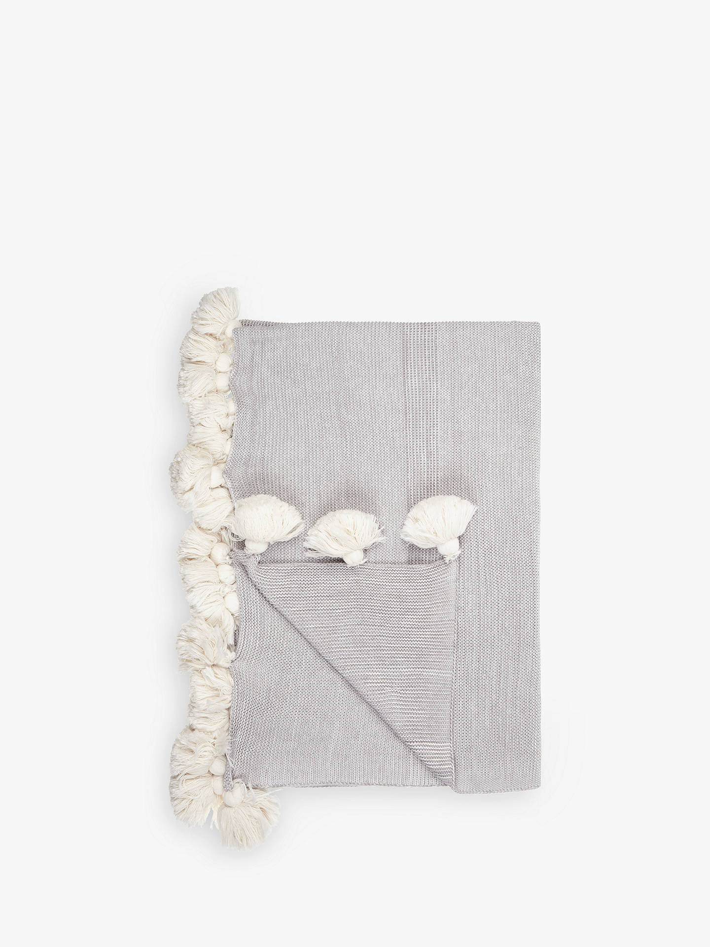 john lewis partners scandi pom pom throw grey at john. Black Bedroom Furniture Sets. Home Design Ideas