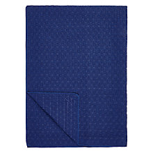 Buy John Lewis Geo Bedspread, Navy Online at johnlewis.com