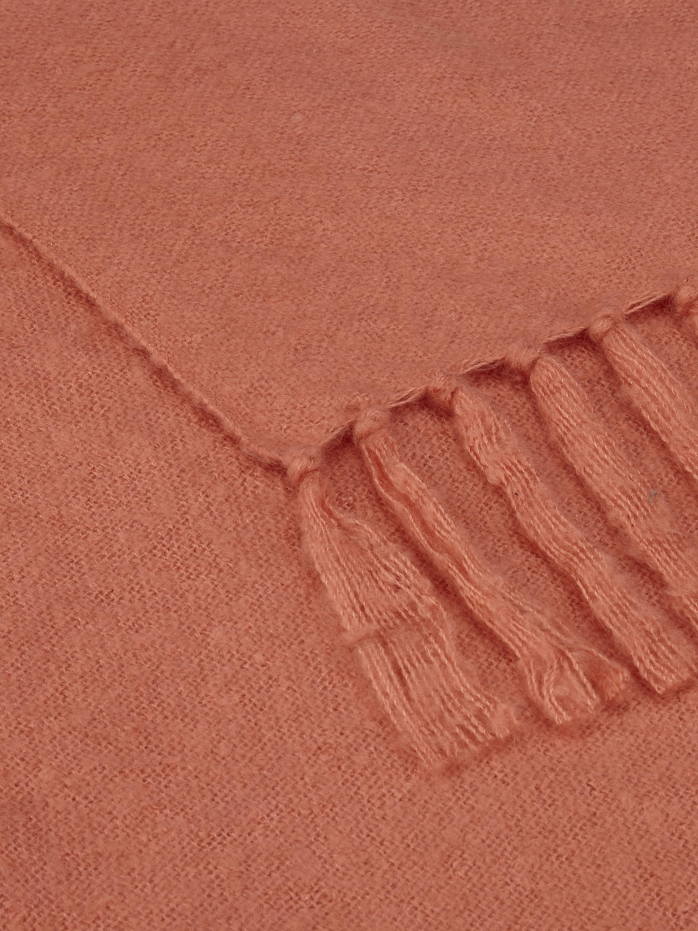 BuyJohn Lewis Relaxed Country Florence Throw, Coral Online at johnlewis.com