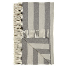 Buy John Lewis Herringbone Stripe Wool Blend Throw, Grey Online at johnlewis.com