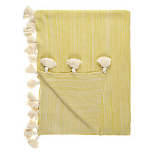 Buy John Lewis Scandi Pom Pom Throw, Citrine Online at johnlewis.com