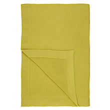 Buy John Lewis Relaxed Country Rye Plain Knit Throw, Green Online at johnlewis.com