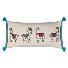 Buy John Lewis Party Llamas Cushion Online at johnlewis.com