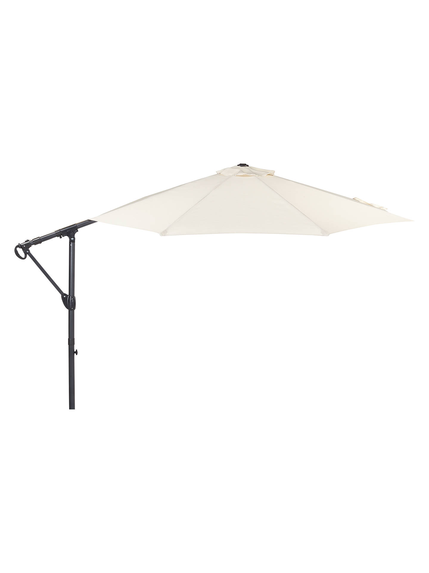 184d72f9c92f Buy John Lewis & Partners 3m Free Standing Parasol, Oyster Online at  johnlewis. ...