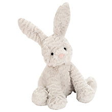 Buy Jellycat Fuddlewuddle Bunny Soft Toy, Medium, Grey Online at johnlewis.com
