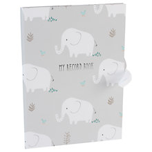 Buy John Lewis Baby Elephant Record Book Online at johnlewis.com