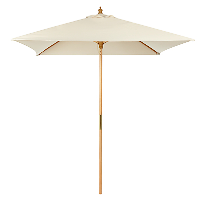 John Lewis 2m Wooden Parasol, FSC-Certified (Sycamore), Oyster