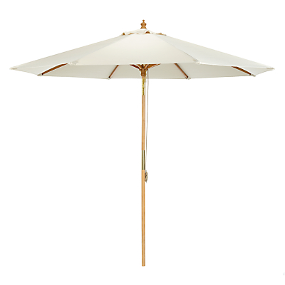 John Lewis 2.75m Wooden Parasol, FSC-Certified (Sycamore), Oyster