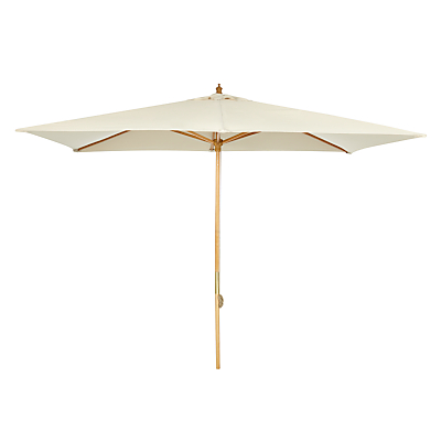 John Lewis 3 x 2m Wooden Parasol, FSC-Certified (Sycamore), Oyster