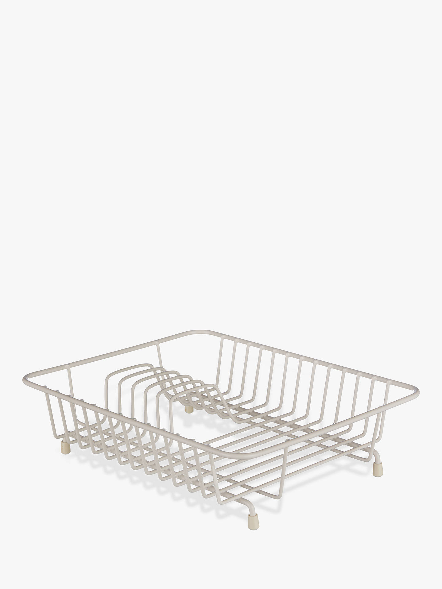 Buy John Lewis & Partners Compact Dish Rack, Cream Online at johnlewis.com
