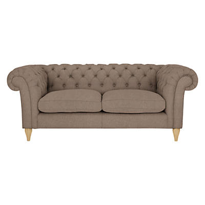 John Lewis Cromwell Chesterfield Large 3 Seater Sofa, Light Leg, Dylan Natural