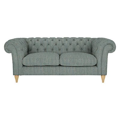 John Lewis Cromwell Chesterfield Large 3 Seater Sofa, Light Leg