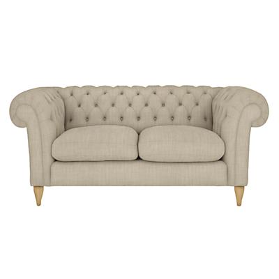 John Lewis Cromwell Chesterfield Small 2 Seater Sofa, Light Leg