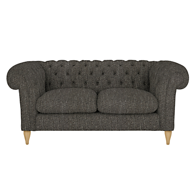 John Lewis Cromwell Chesterfield Small 2 Seater Sofa, Light Leg