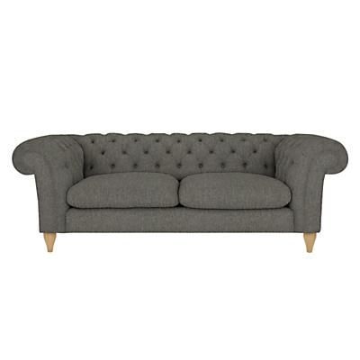 John Lewis Cromwell Chesterfield Grand 4 Seater Sofa, Light Leg