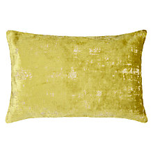 Buy John Lewis Distressed Velvet Cushion, Chartreuse Online at johnlewis.com