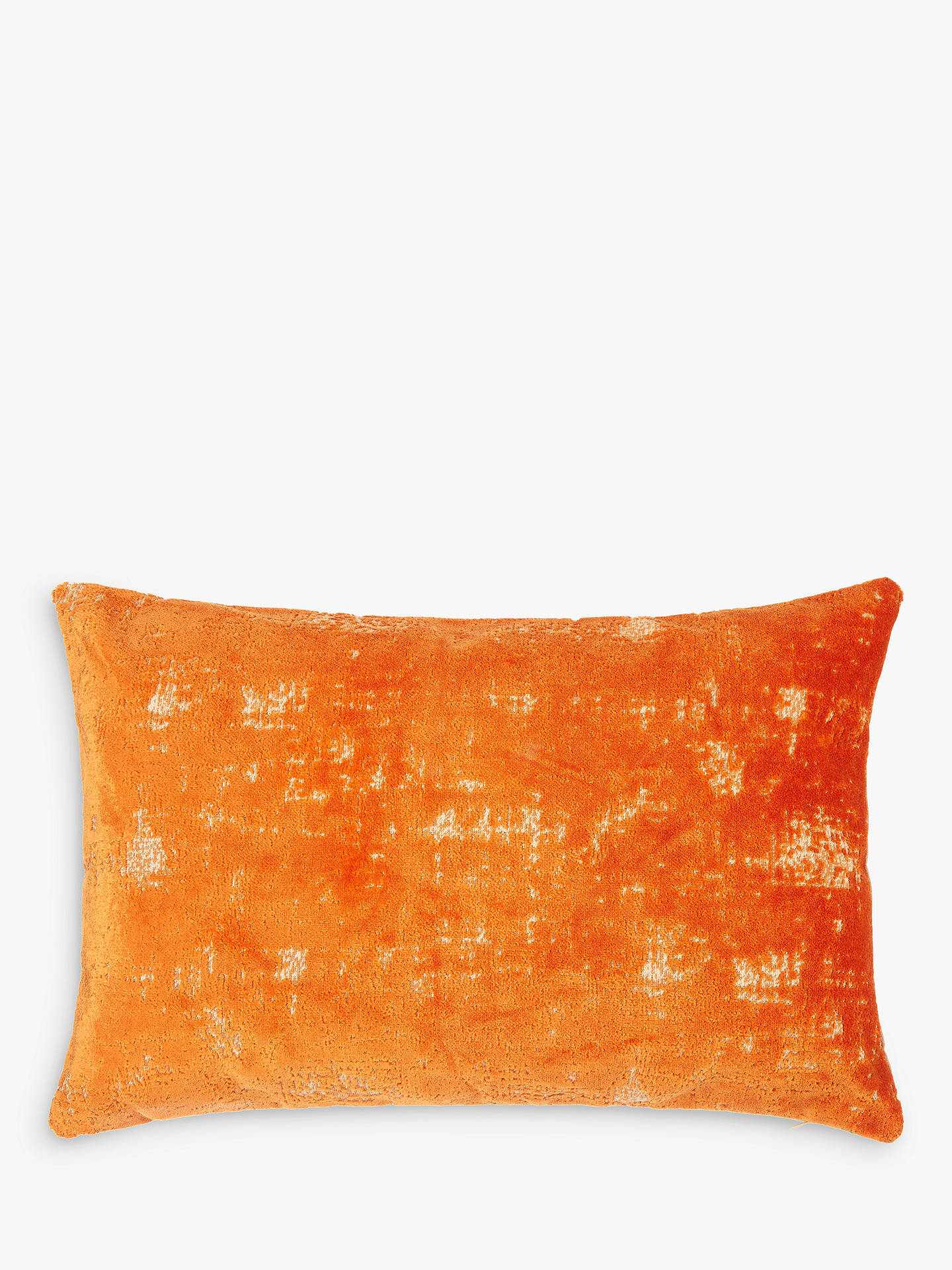 BuyJohn Lewis & Partners Distressed Velvet Cushion, Clementine Online at johnlewis.com